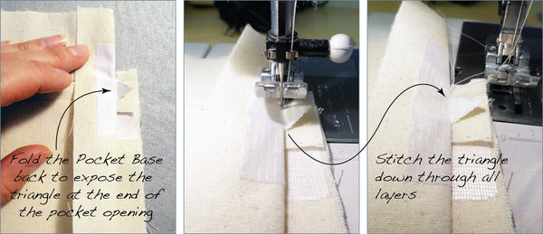 Stitching the Pocket Ends