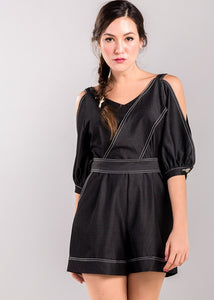 Harriet Playsuit in Black