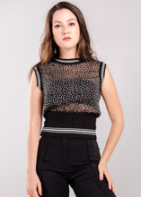 Load image into Gallery viewer, Cassie Vintage Top in Black