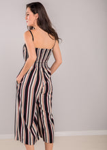 Load image into Gallery viewer, Francesca Stripe Jumpsuit in Red
