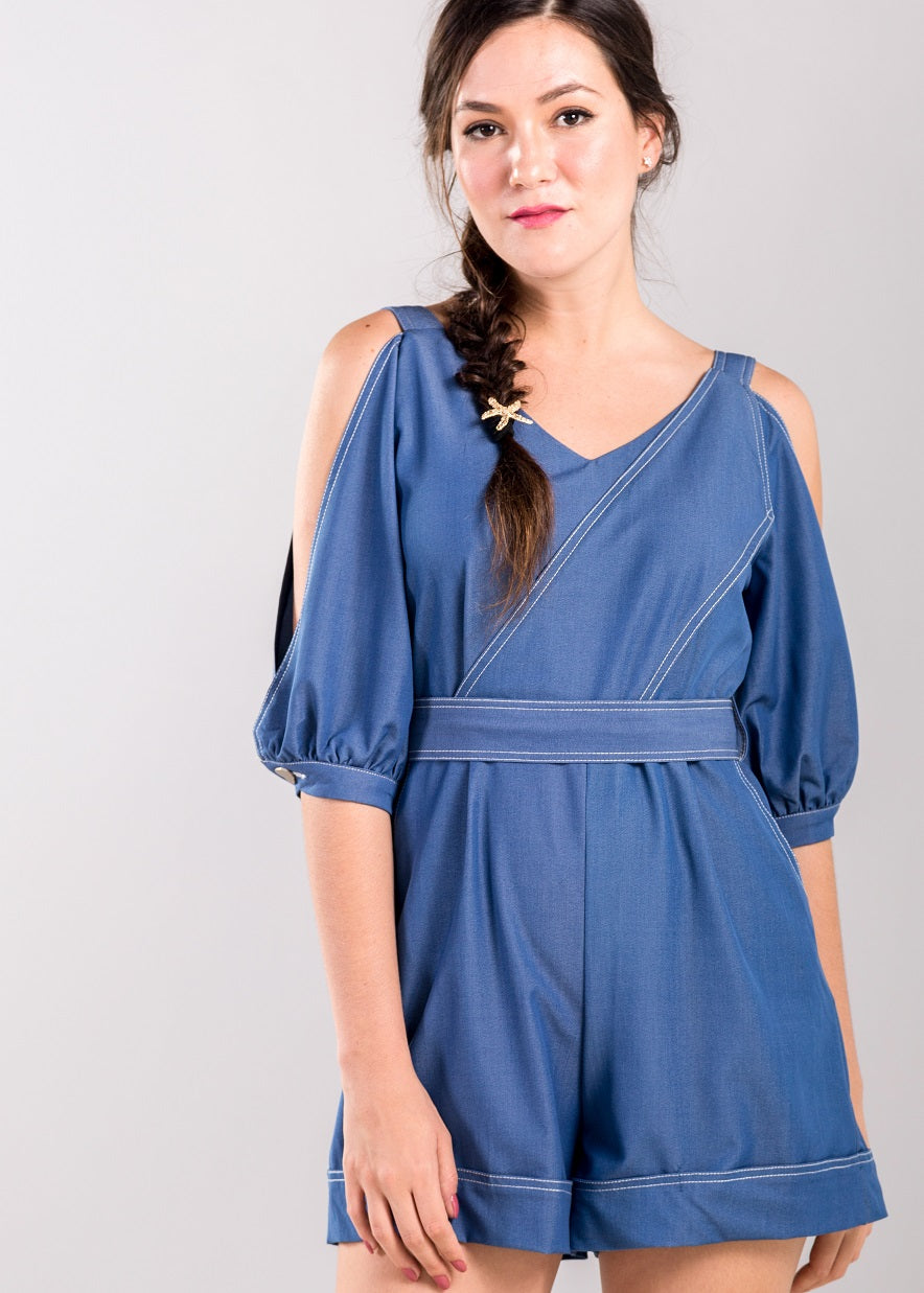 Harriet Playsuit in Blue