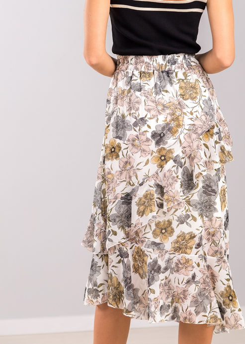 Cecily Floral Skirt in Pastel