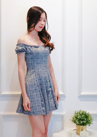 Adriane Checkers Dress