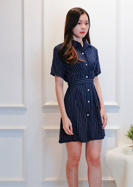 Malison Dress in Navy Blue