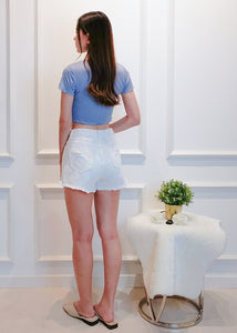 Remi Denim Shorts in White