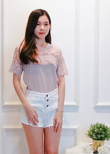 Quine Floral Top in Pink