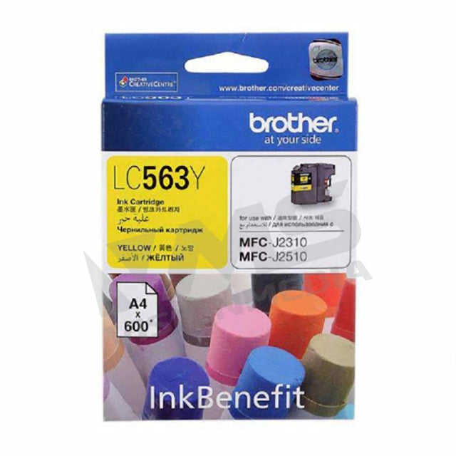 BROTHER YELLOW INK CARTRIDGE (LC-563Y)