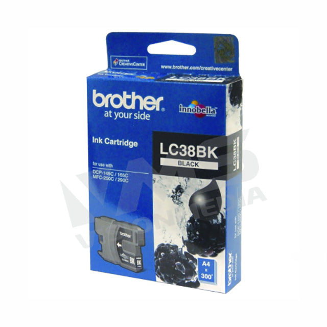 BROTHER BLACK INK CARTRIDGE (LC-38BK)