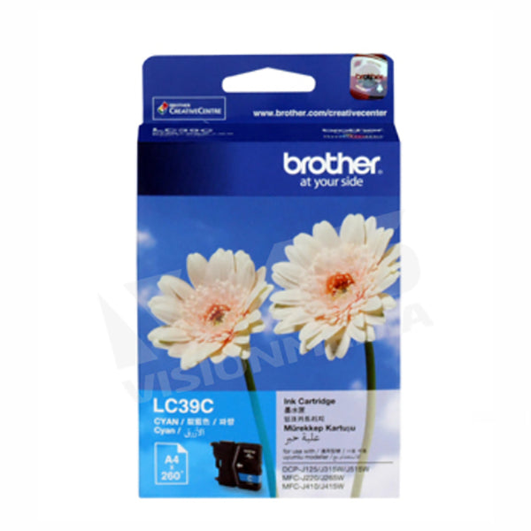 BROTHER CYAN INK CARTRIDGE (LC-39C)