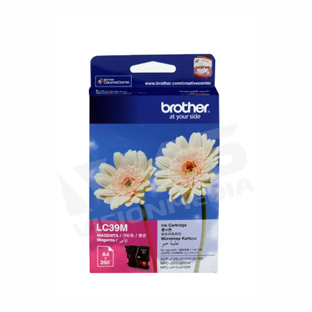 BROTHER MAGENTA INK CARTRIDGE (LC-39M)