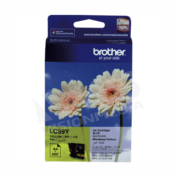 BROTHER YELLOW INK CARTRIDGE (LC-39Y)