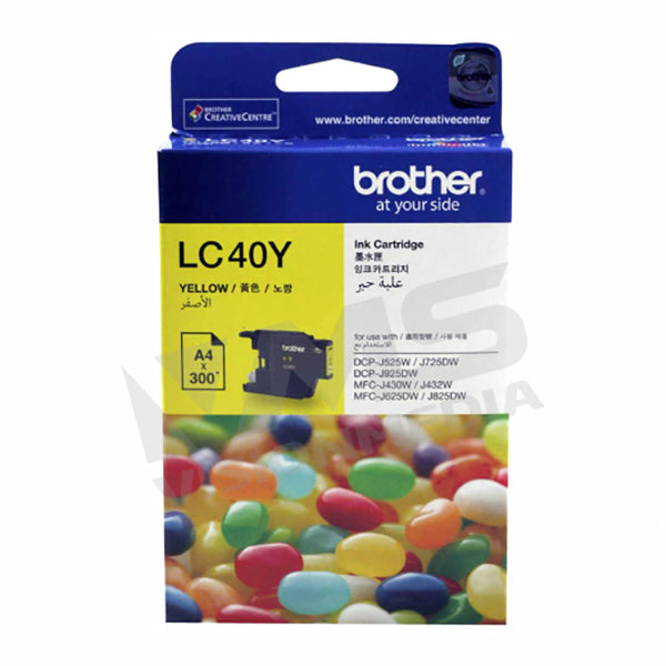 BROTHER YELLOW INK CARTRIDGE (LC-40Y)