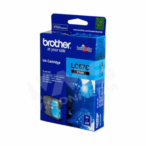 BROTHER CYAN INK CARTRIDGE (LC-67C)