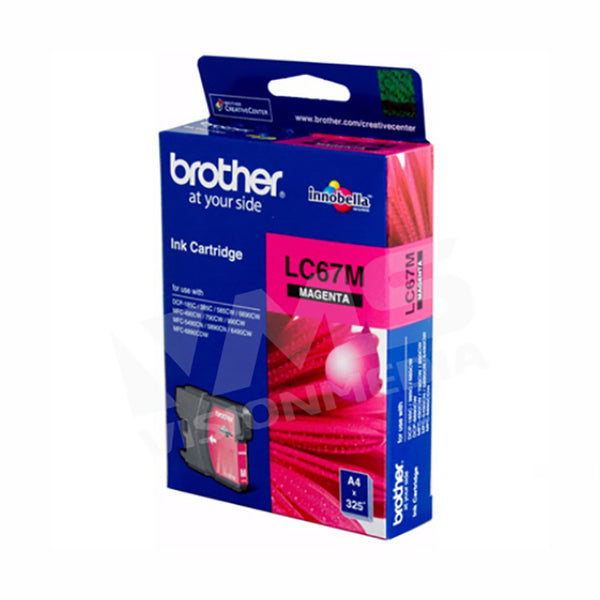BROTHER MAGENTA INK CARTRIDGE (LC-67M)