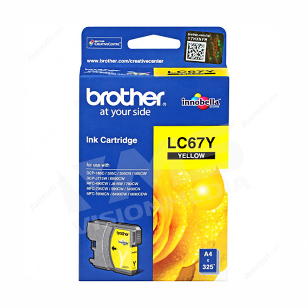 BROTHER YELLOW INK CARTRIDGE (LC-67Y)