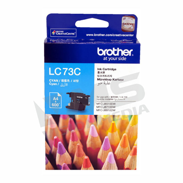 BROTHER CYAN INK CARTRIDGE (LC-73C)