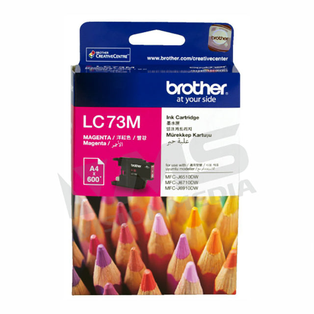 BROTHER MAGENTA INK CARTRIDGE (LC-73M)