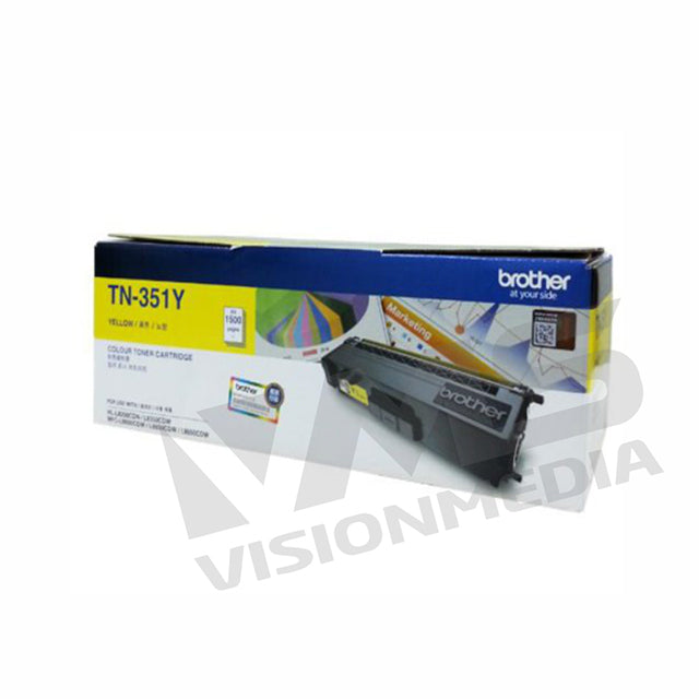 BROTHER YELLOW TONER CARTRIDGE (TN-351Y)