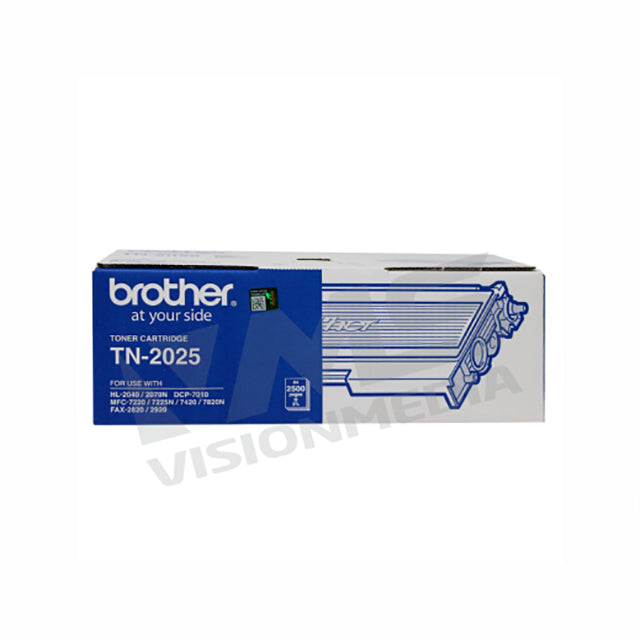 BROTHER BLACK TONER CARTRIDGE (TN-2025)