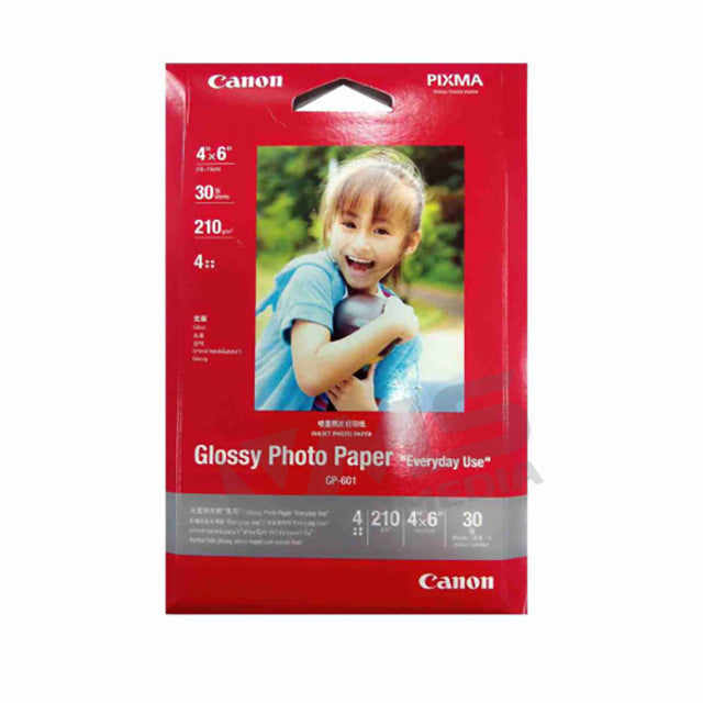 "CANON GLOSSY PHOTO PAPER (GP-601) (30 SHEETS) (4"" X 6"")"