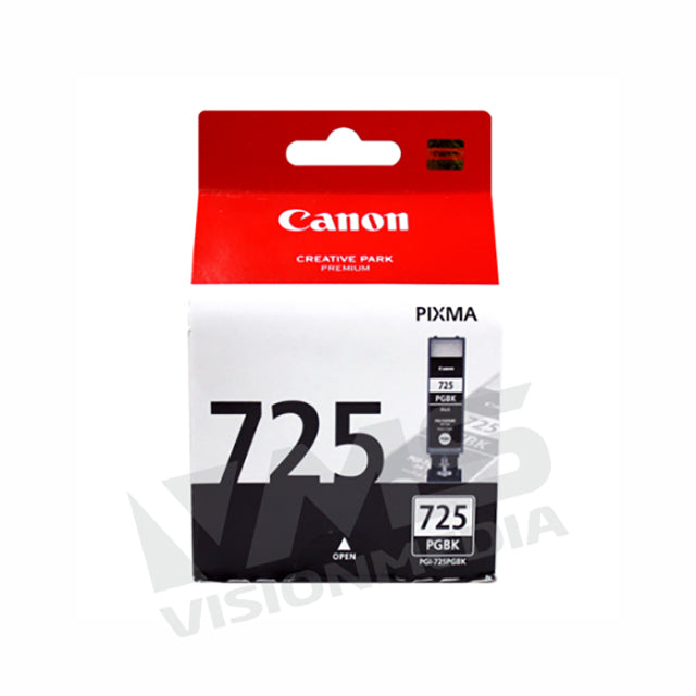 CANON BLACK PIGMENT INK CARTRIDGE (PGI-725BK)