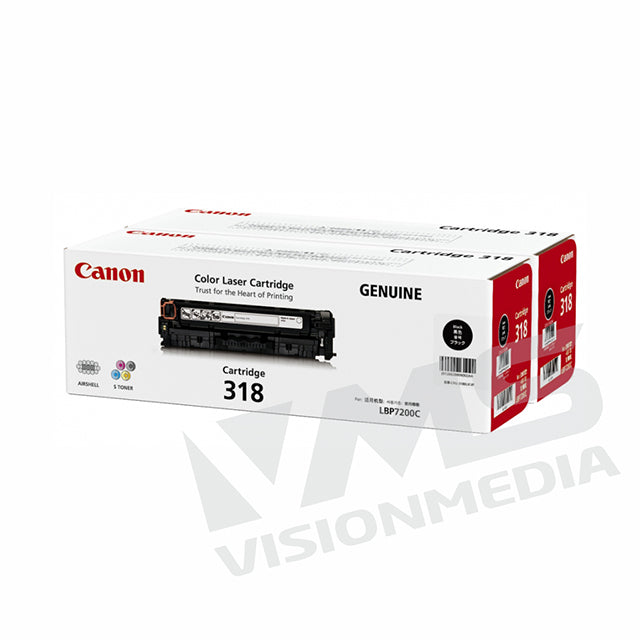 CANON BLACK TONER CARTRIDGE (318 VP)