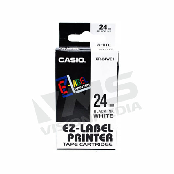 CASIO EZ-LABEL 24MM BLACK ON WHITE (XR-24WE1)