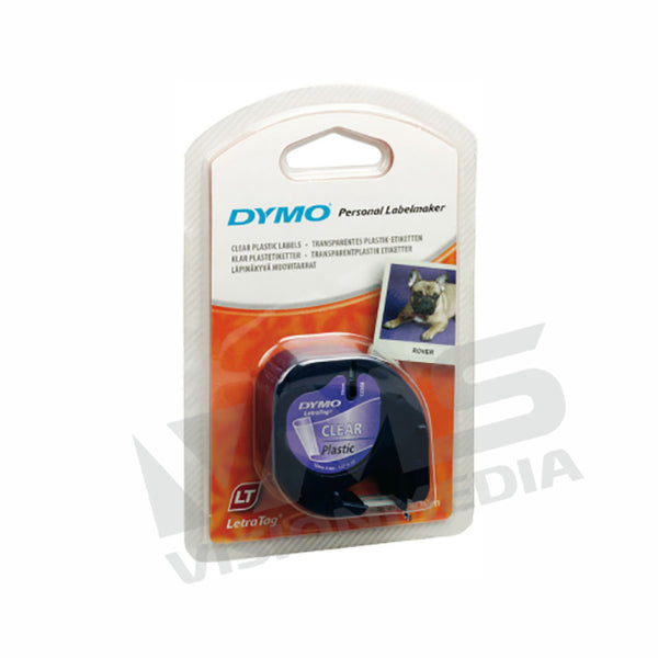 DYMO TAPE LETRATAG PLASTIC CLEAR DY-TP-12267 (S0721530)