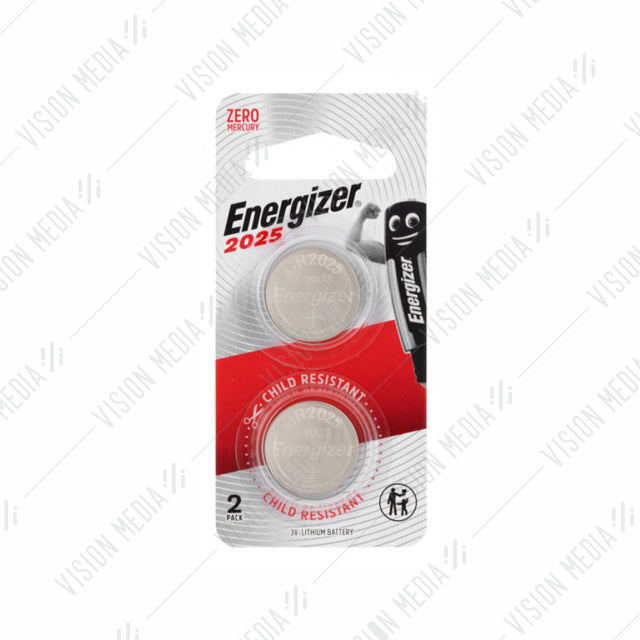 ENERGIZER LITHIUM COIN CR2025 BATT (2PCS/PACK) (CR2025BS2G)