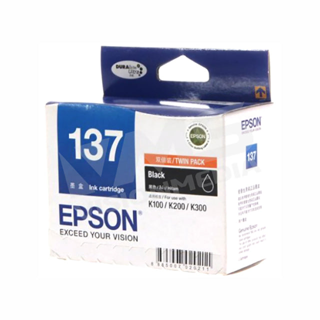 EPSON T137 BLACK INK CARTRIDGE (DOUBLE PACK) (T137193)