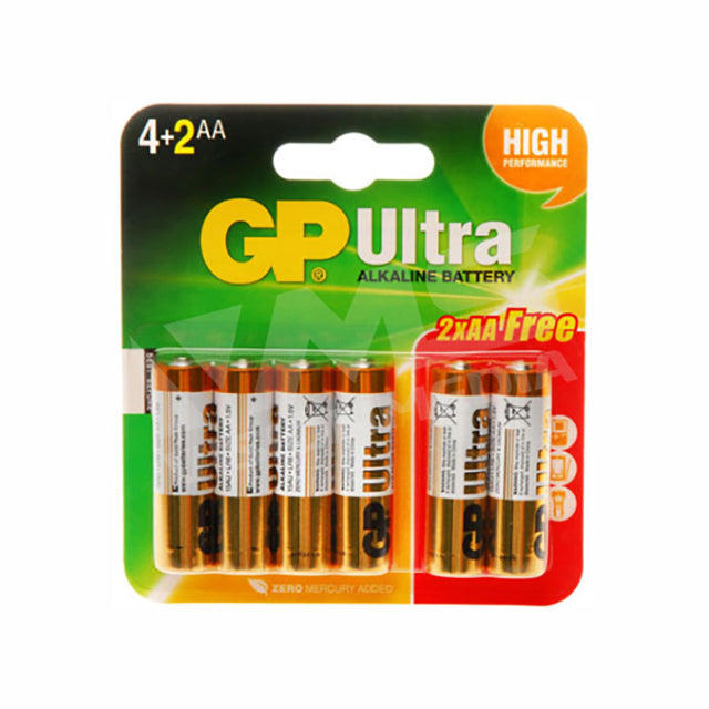 GP ALKALINE AA (6 PCS/PACK)