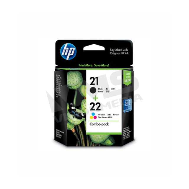 HP 21/22 INK CARTRIDGE | COMBO PACK | (CC630AA)