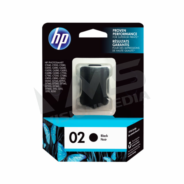 HP 02 BLACK INK CARTRIDGE (C8721WA)