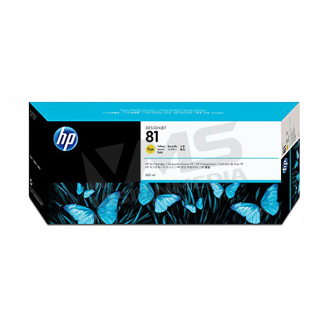 HP 81 YELLOW DYE INK (C4933A)