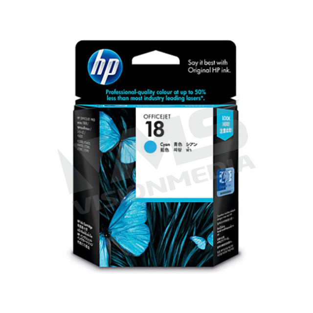 HP 18 CYAN INK CARTRIDGE (C4937A)