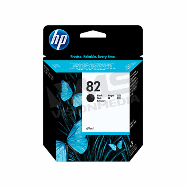 HP 82 BLACK INK CARTRIDGE (CH565A)
