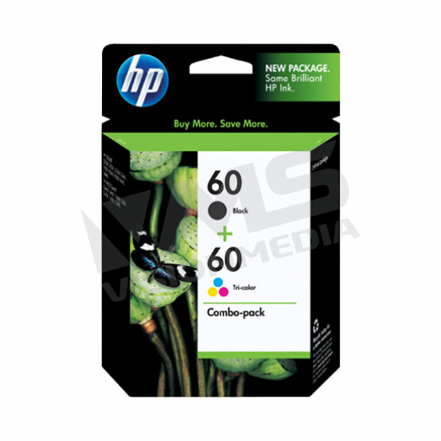 HP 60 BLACK+COLOR INK CARTRIDGE |COMBO PACK| (CN067AA)