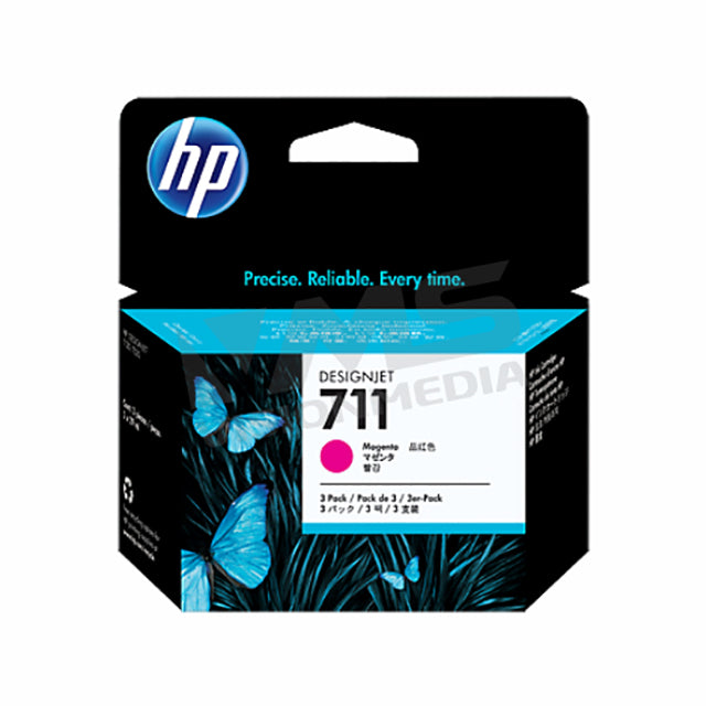 HP 711 3-PACK 29-ML MAGENTA INK CARTRIDGE (CZ135A)