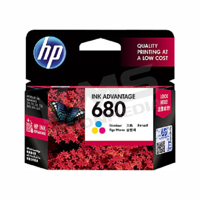 HP 680 TRI-COLOR INK CARTRIDGE (F6V26AA)