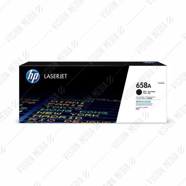 HP 658A BLACK LASERJET TONER CARTRIDGE (W2000A)