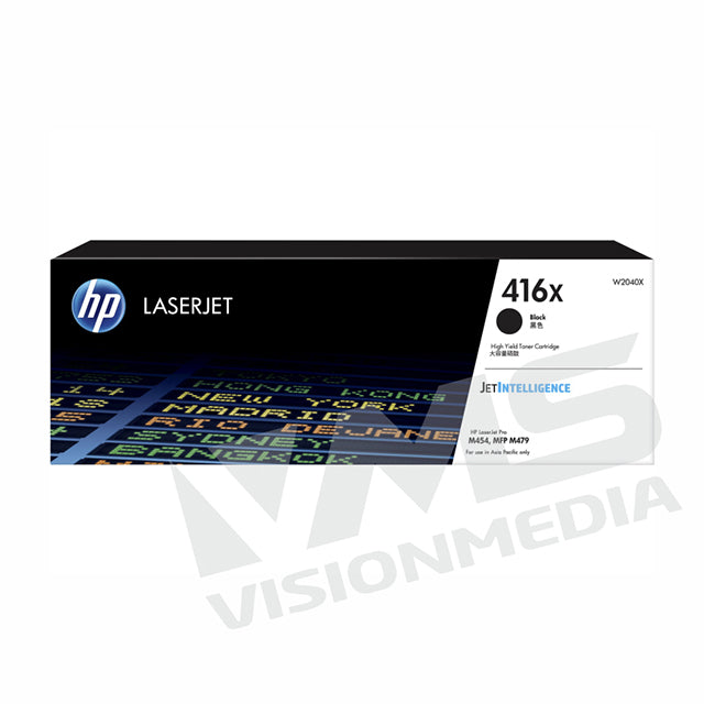 HP 416X HIGH YIELD BLACK TONER CARTRIDGE (W2040X)