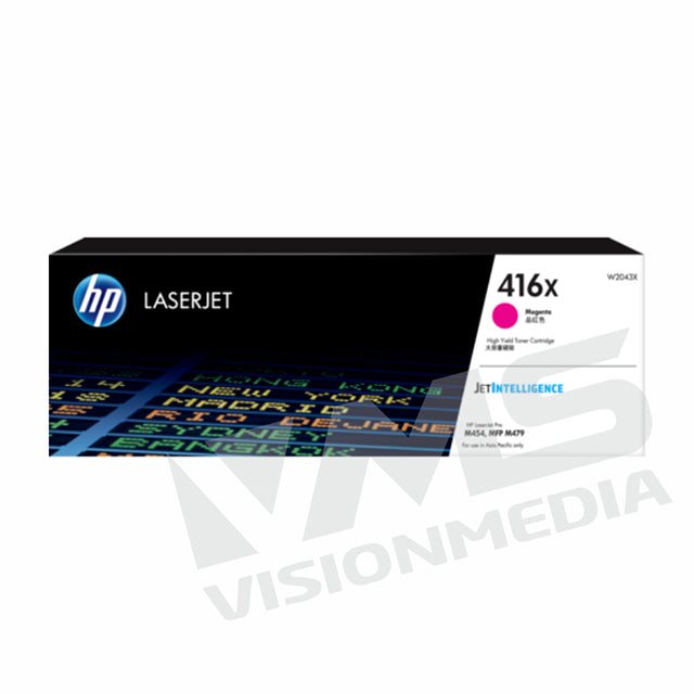 HP 416X HIGH YIELD MAGENTA TONER CARTRIDGE (W2043X)