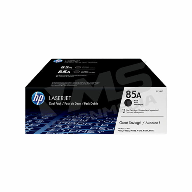 HP 85A BLACK TONER CARTRIDGE |DUAL PACK| (CE285AD)