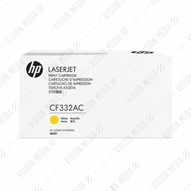HP 654A YELLOW CONTRACTUAL TONER CARTRIDGE (CF332AC)