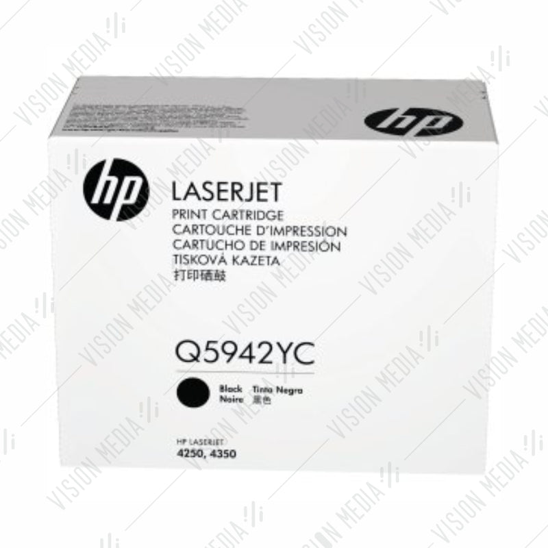 HP 42X EXTRA HIGH YIELD BLACK CONTRACTUAL TONER CARTRIDGE (Q5942YC)