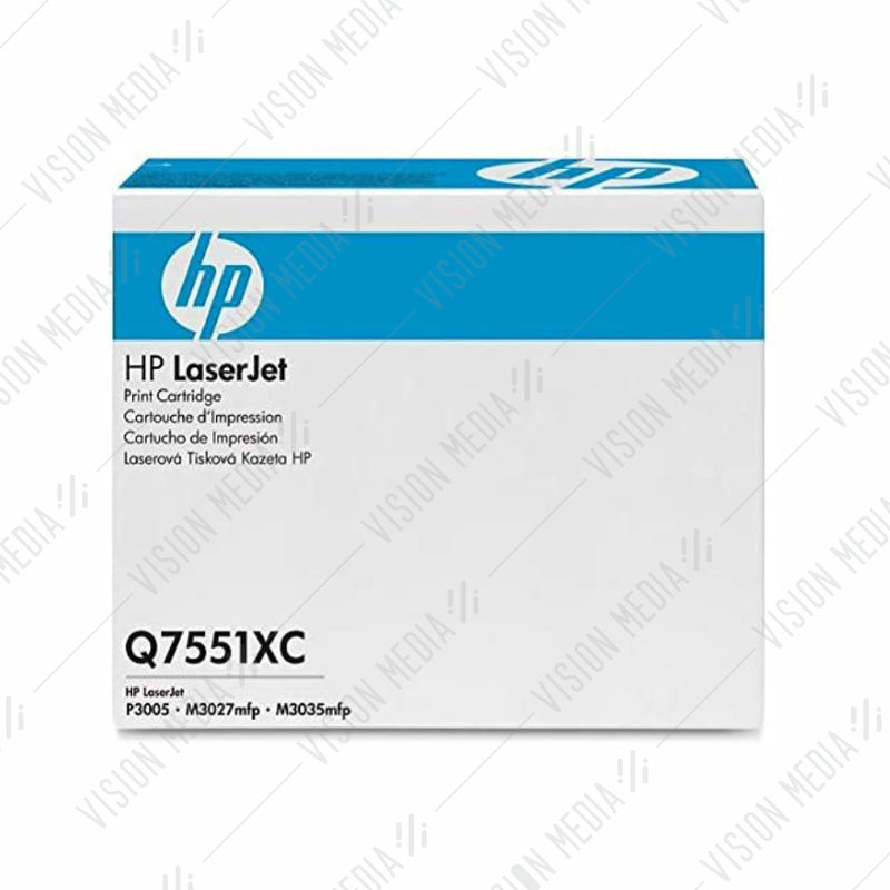 HP 51X HIGH YIELD BLACK CONTRACTUAL TONER CARTRIDGE (Q7551XC)