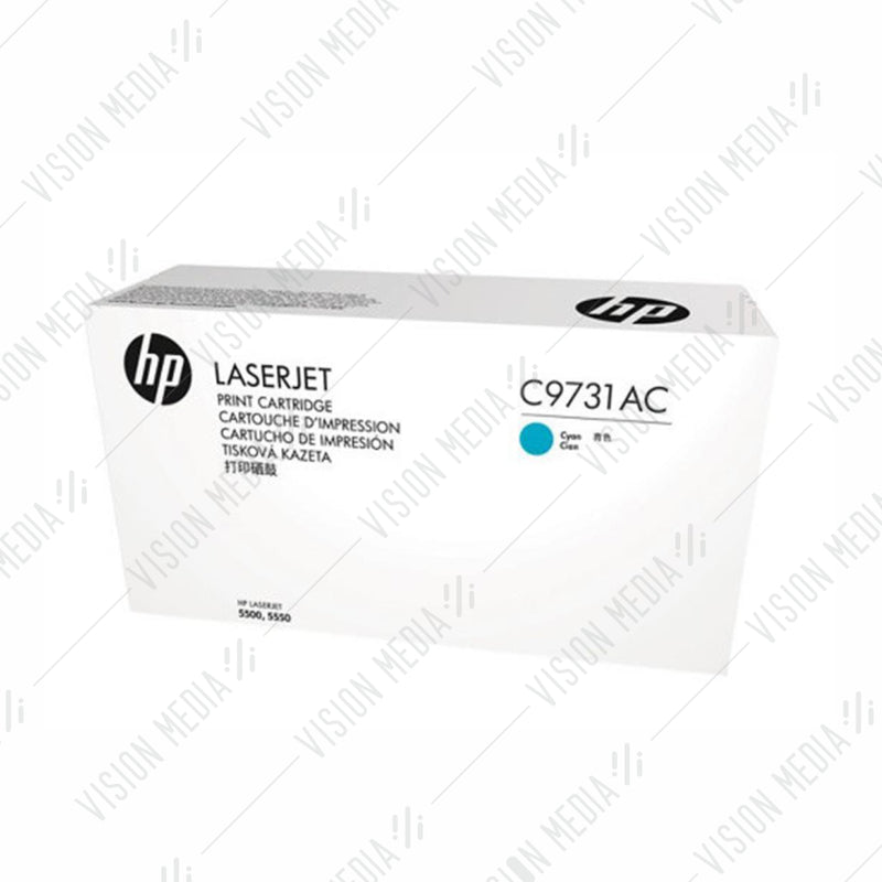 HP 645A CYAN CONTRACTUAL TONER CARTRIDGE (C9731AC)
