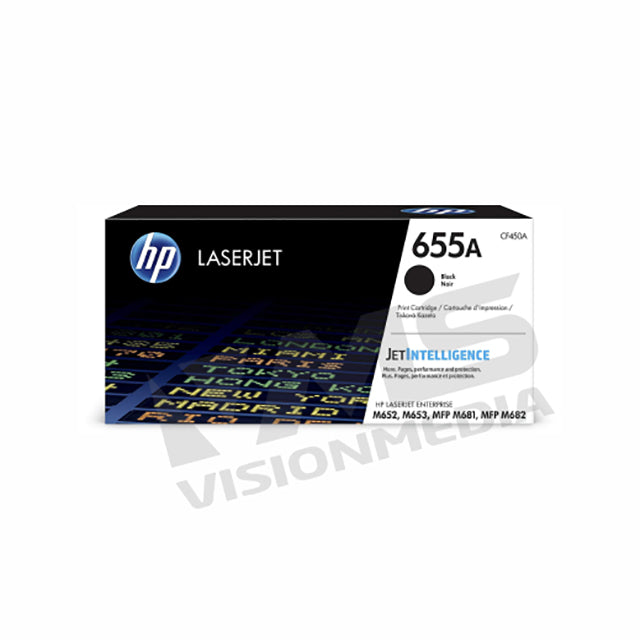 HP 655A BLACK TONER CARTRIDGE (CF450A)