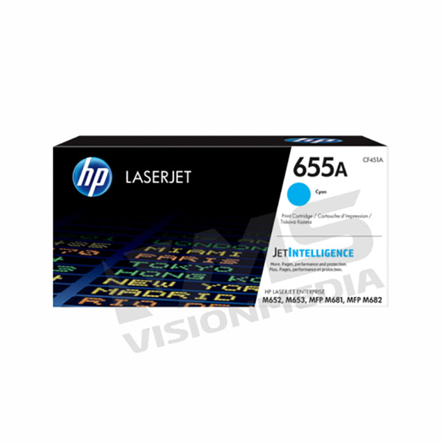 HP 655A CYAN TONER CARTRIDGE (CF451A)