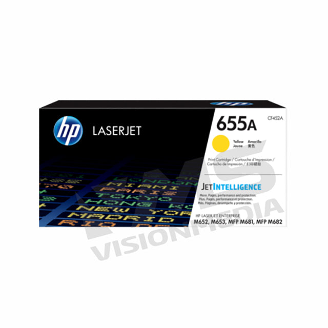 HP 655A YELLOW TONER CARTRIDGE (CF452A)